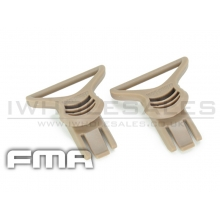 FMA Goggle Swivel Clips 36mm (Tan) (TB313)