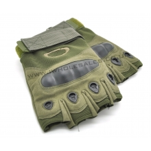 Fingerless Gloves With Nuckle Protection (Green)