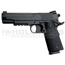 KWC 1911 Co2 Pistol (4.5mm - KM-42ZDHN - Metal Slide - NBB - Black)