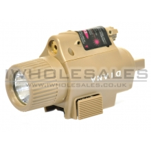 CCCP MF1 Tactical Flashlight Torch with Laser (Tan)