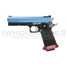 Armorer Works Custom Hi-Capa GBBP (Split Blue Slide - Red Barrel - AW-HX1005)