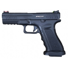 APS Facelift Action Combat Co2 Blowback Pistol (Black -  ACP601B-FL)