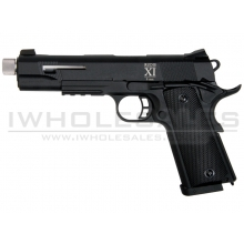 Secutor - Rudis XI - 1911 Custom Pistol (Silver Barrel - Co2 Powered - Gas Ready - Black)