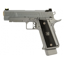 Salient Arms International by EMG 2011 DS 4.3 Gas Pistol (Gold Barrel - Silver - 4.3)
