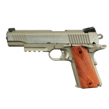 Colt 1911 (Rail) Co2 Blowback Pistol (Silver - Cybergun - 180530)