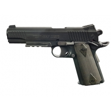 Colt 1911 (Rail) Co2 Pistol (Black - Fixed Slide - Cybergun - 180314)