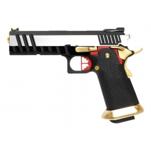 Armorer Works Custom Hi-Capa GBBP (Silver Slide - Gold Barrel - Fully Auto. - AW-HX2031)