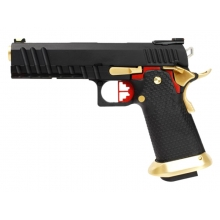 Armorer Works Custom Hi-Capa GBBP (Black Slide - Gold Barrel - Fully Auto. - AW-HX2032)