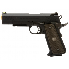 Salient Arms International by EMG 1911 RED Gas Pistol (Gold Barrel - Black - SA-RD0100)