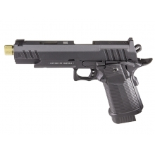 Secutor - LUDUS III - Hi-Capa 5.1 Custom Pistol (Gold Barrel - Co2 Powered - Gas Ready - Black)