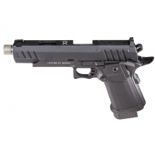 Secutor - LUDUS XI - Hi-Capa 5.1 Custom Pistol (Silver Barrel - Co2 Powered - Gas Ready - Black)