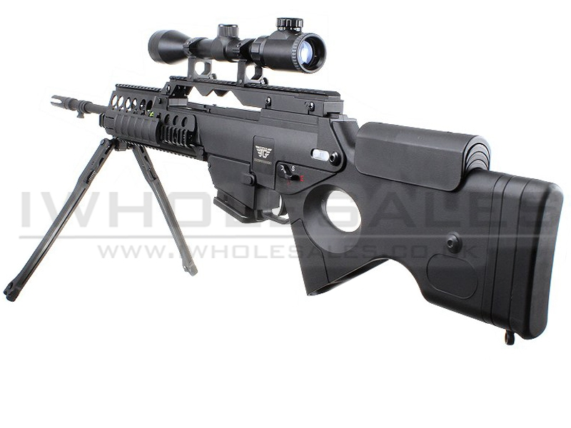 JG SL86 G39 AEG Sniper Rifle With 3-9x Scope and Metal Bipod (2238