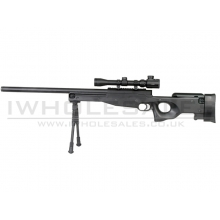 Double Eagle M59P L96 with Hunter Scope and Bipod (Black)