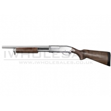 S&T ST870 Police Spring Shotgun (Full Metal - Silver - Limited Edition)