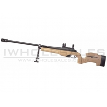 Ares Mid-Range Gas Bolt Action Sniper Rifle with Scope Mounts and Bipod (MSR-009-DE)