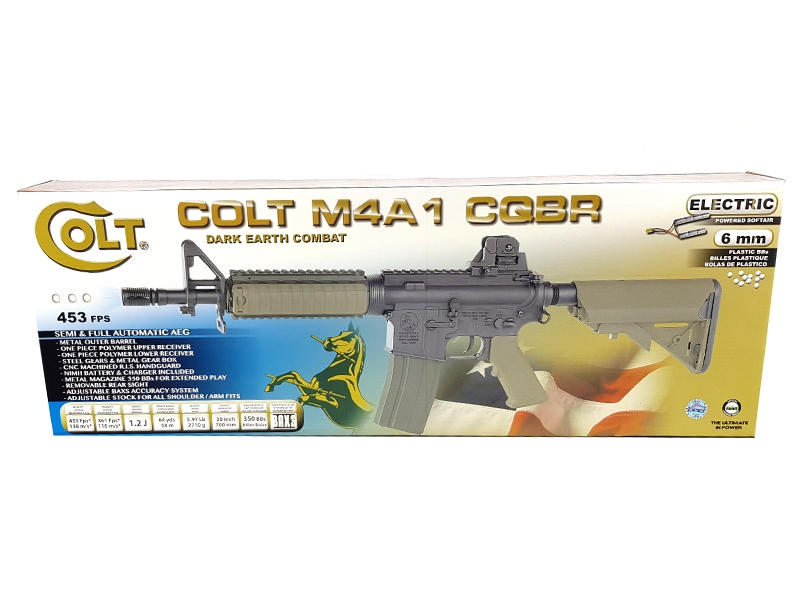 Colt M4 CQB-R Dual Tone Tan AEG (With Battery and Charger - Cybergun