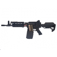 Golden Eagle MCR LMG AEG with Drum Mag. M (2600 Rnds - Sound Control - with Battery & Charger - F6671)