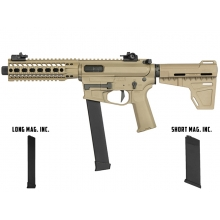 Ares M45X-S with EFCS Gearbox (S-Class L - Tan - AR-088E - Comes with Extra Mid-Cap and Low Cap Magazine)