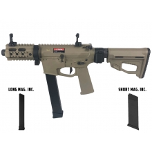 Ares M45X-S with EFCS Gearbox (Tan - AR-084E - Comes with Extra Mid-Cap and Low Cap Magazine)