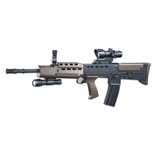 CCCP L85A2 Spring Rifle with Torch and Red Dot Sight (Black - L85A2)