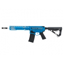 EMG F1 Firearms SBR AEG Rifle with RS-3 Stock (Silver Edge Gearbox/eSE Electronic Trigger - Blue - eSBR-BLS-3)