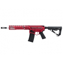 EMG F1 Firearms SBR AEG Rifle with RS-3 Stock (Silver Edge Gearbox/eSE Electronic Trigger - Red - eSBR-RR-3)