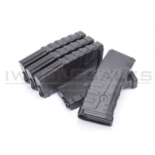Command Arms by CAA Mid-Cap Magazine for M4/M16 AEG (140 Rounds – Pack of 5 – Black - CAD-MAG-59-V)
