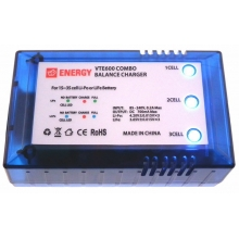 Li-Po and LiFe 700mA Charger Pack for 1S to 3S (3.7 v- 7.4v - 11.1v) with UK Mains Power Lead