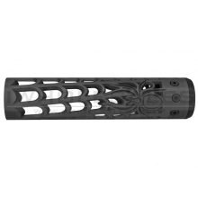 """Unique ARs CNC Machined Spider Web Handguard for AR15 Pattern Rifles (Black - 9"""" - With Airsoft Barrel Nut)"""