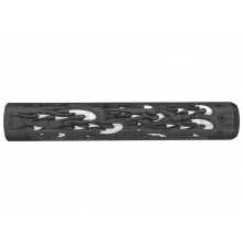 """Unique ARs CNC Machined Flame Handguard for AR15 Pattern Rifles (Black - 12"""" - With Airsoft Barrel Nut)"""