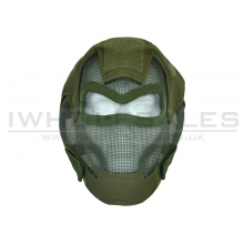 CCCP Full Face Fencing Mask without Eye Protection (Green)