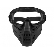 Big Foot Lower Vented Full Face Mask (Clear Lens - Black)