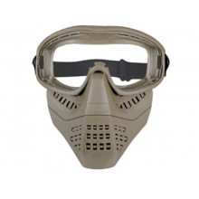 Big Foot Lower Vented Full Face Mask (Clear Lens - Tan)