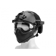 Big Foot Pilot helmet(Steel mesh version) L size (Black)