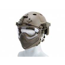 Big Foot Pilot helmet(Steel mesh version) L size (Tan)