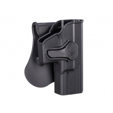 Amomax ROT360 Series Holster for Series 19 Pistol (Polymer - Right - Black)