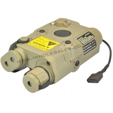 PEQ-15 Battery Box with Green Laser (Tan)